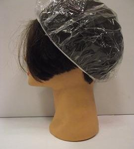 Cuffia plasica con elastico