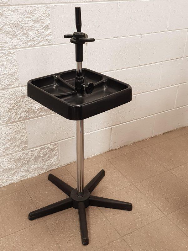 Morsetto per testina + vassoio porta oggetti con piedistallo