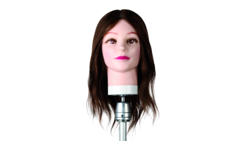 Testa studio donna 100 capelli naturali cm35-40 400877